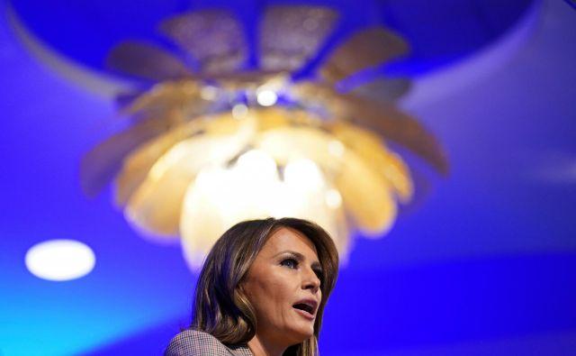 Junija bo o Melanii izšla še ena neavtorizirana biografija, The Art of Her Deal. Napisala jo je prejemnica Pulitzerjeve nagrade Mary Jordan, v njej pa je zbranih več kot sto intervjujev. FOTO: Kevin Lamarque Reuters