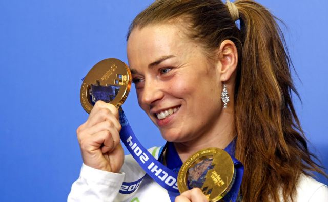 Tina Maze je s po dvema zlatima in srebrnima kolajnama najuspešnejša slovenska olimpijka po osamosvojitvi. FOTO: Matej Družnik/Delo