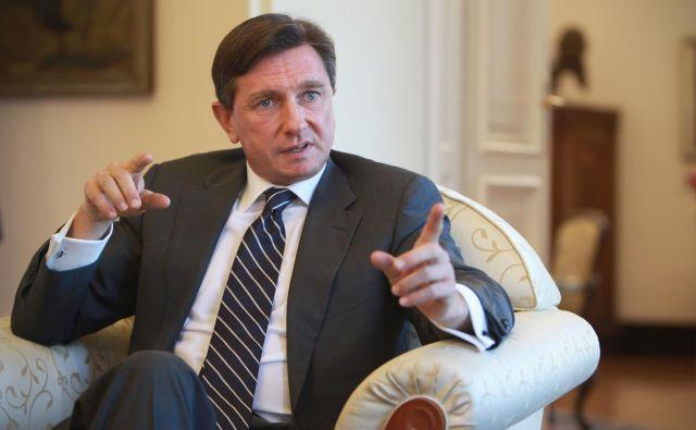 Borut Pahor obžaluje, da je Tarča razkrila nepravilnosti pri nabavi mask. FOTO: Eržen Jure