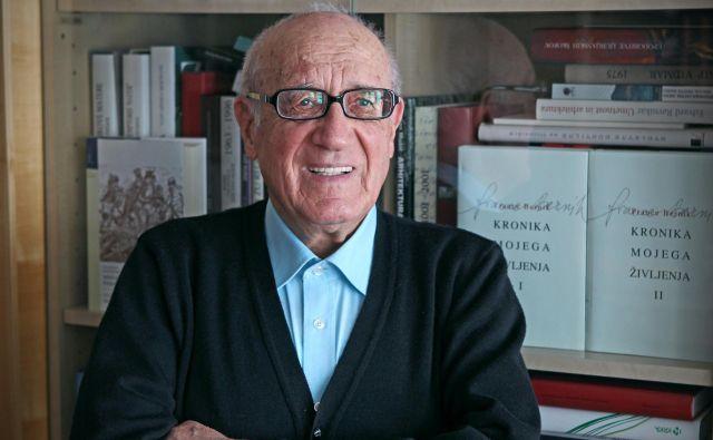 Akademik in prejemnik mnogih nagrad France Bernik. FOTO: Blaž Samec/Delo