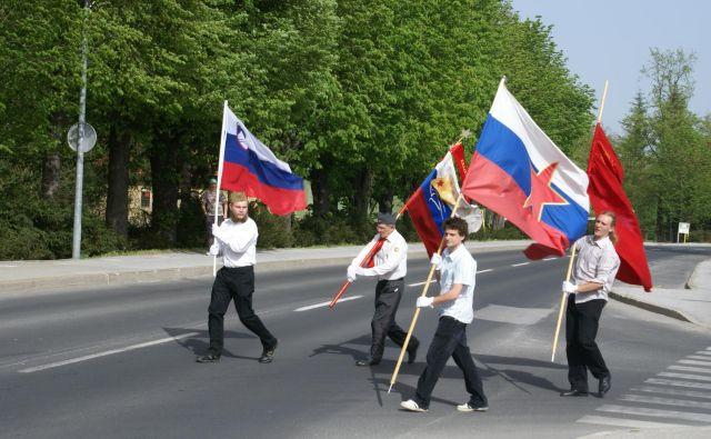 Proslava ob današnjem prazniku v Radencih. FOTO: Oste Bakal