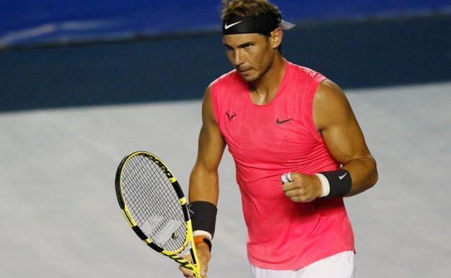 Rafael Nadal je konec februarja še nastopil na OP Mehike v Acapulcu. FOTO: Reuters