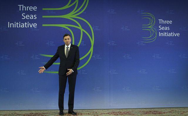 Akter kontroverzne Pobude treh morij je predsednik Borut Pahor.<br /> FOTO: Jože Suhadolnik/Delo
