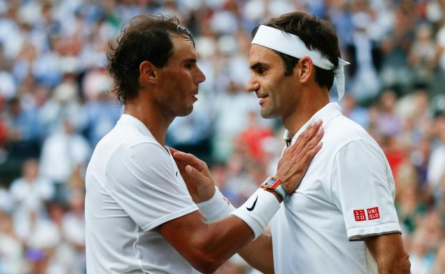 Tudi ko se bosta poslovila Roger Federer (desno) in Rafael Nadal (levo), bo imel tenis po mnenju Davida Haggertyja lepo prihodnost. FOTO: AFP