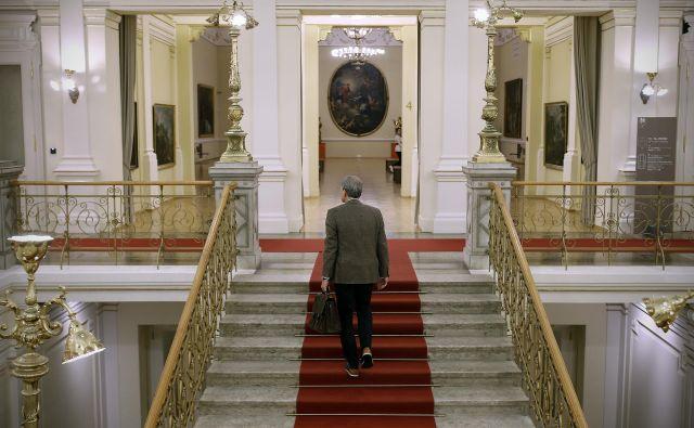 V Narodni galeriji računajo, da bi lahko vrata odprli kmalu, in sicer za individualne goste, ne za skupine.FOTO: Blaž Samec/Delo