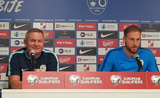 Slovenski selektor Matjaž Kek in vratar Jan Oblak bi se lahko spet srečala letošnjega septembra. FOTO: J. S.