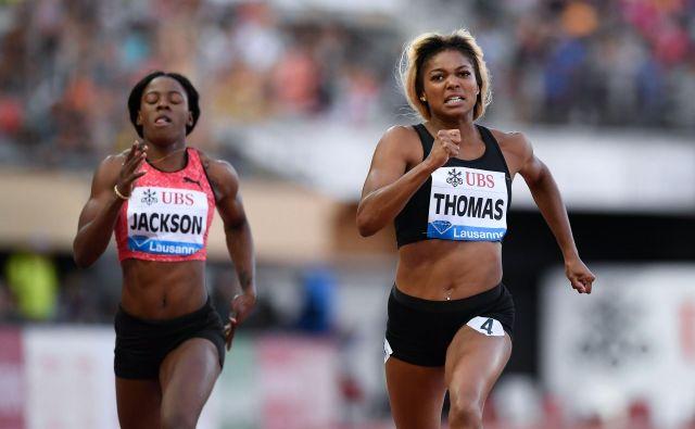 Ameriško šprinterko Gabrielle Thomas, dvakratno zmagovalko diamantne lige v Lozani, in druge grešnike lahko doleti še hujša kazen. FOTO: AFP