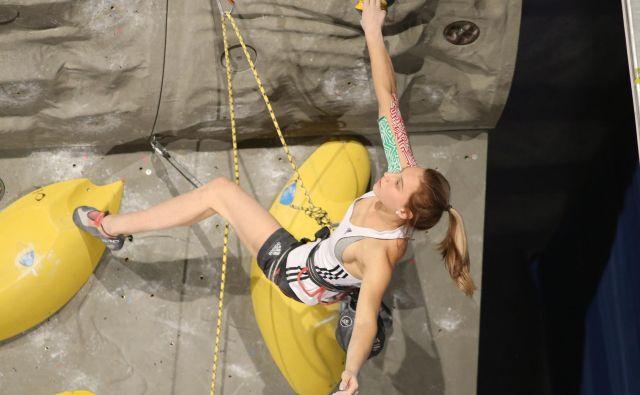 Janja Garnbret komaj čaka, da bo lahko nadaljevala svojo imenitno športno pot. FOTO: Tomi Lombar<br />