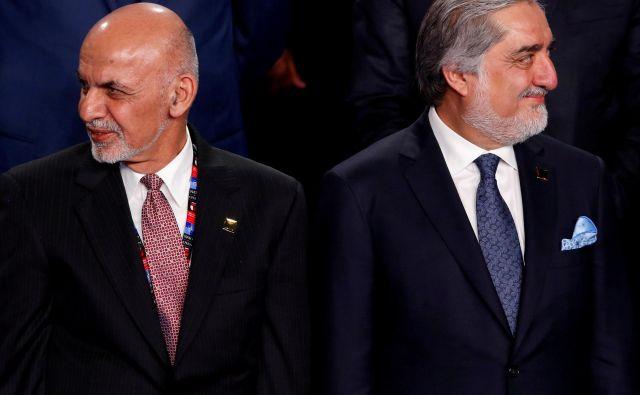 Ašraf Gani (levo) in Abdula Abdula (desno). FOTO: Jonathan Ernst/Reuters