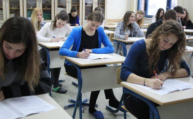 Dijaki menijo, da bi bilo treba zaradi izrednih razmer letošnjo maturo prilagoditi. Foto: Leon Vidic