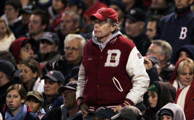 Stephen King je velik oboževalec bejzbolske ekipe Red Sox iz Bostona.<br /> Foto Reuters