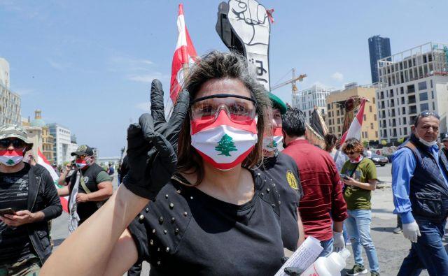 Protestnica na ulicah Bejruta Foto AFP