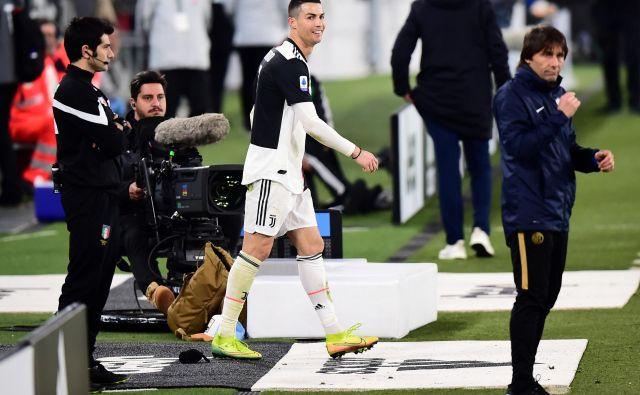 Cristiano Ronaldo in Juventus sta zadnjo tekmo letos igrala v derbiju proti Interju, 8. marca. FOTO: Reuters