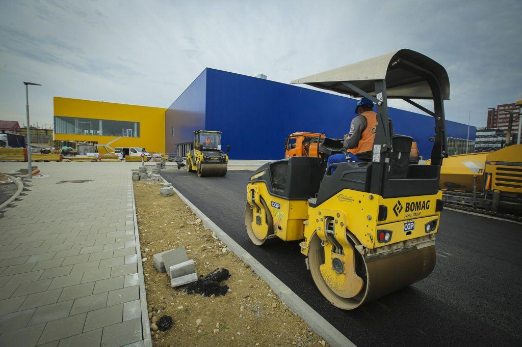 FOTO:Kako nastaja Ikea v Ljubljani