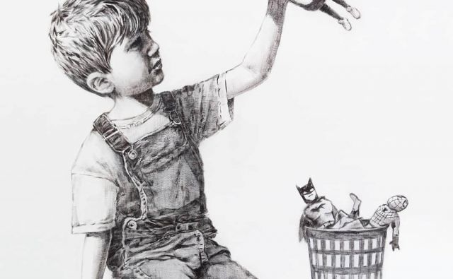 Najnovejša Banksyjeva umetnina je posvečena superherojem koronakrize, medicinskim sestram in drugim zdravstvenim delavcem. FOTO: @banksy Instragram via Reuters