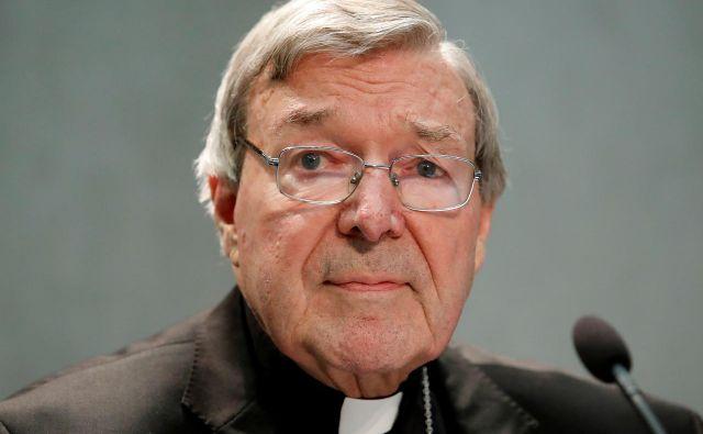 Avstralski kardinal George Pell je bil oproščen obtožb o zlorabi dveh dečkov, zdaj ga obtožujejo neukrepanja proti pedofilskim duhovnikom. FOTO: Reuters