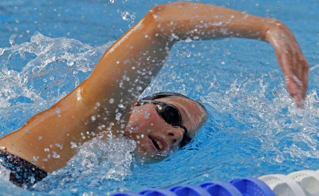 Vodilna slovenska plavalka Tjaša Oder, ki vadi po programu klubskega trenerja in obenem selektorja Gorazda Podržavnika, že močno pogreša bazen. FOTO: Tomi Lombar/Delo