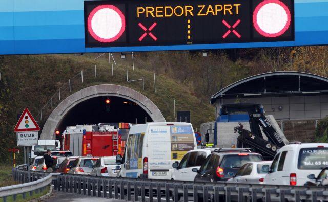 Trojane, prometna nesreca v predoru. Foto: Voranc Vogel/Delo