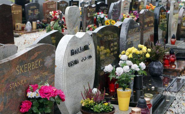 Žale: v tem, da sta pogrebna in pokopališka dejavnost razdeljeni med zasebnike in občine, ustavno sodišče ne vidi nič – neustavnega. FOTO: Aleš Černivec/Delo