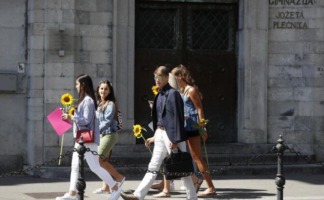 Štiri leta srednje šole se bodo tokrat nedvomno iztekla v drugačno poletje. FOTO: Matej Družnik/Delo