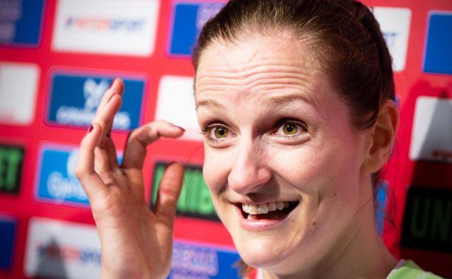 Ana Gros je ob zmagah tudi ne skriva solz sreče. FOTO: Jure Eržen