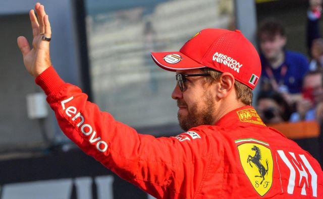Vodja ekipe Mattia Binotto je v zadnjem času poudarjal, da bi Vettla radi zadržali, toda ponujali naj bi mu samo enoletno pogodbo, kar pa je bilo za nemškega dirkača premalo. FOTO: AFP
