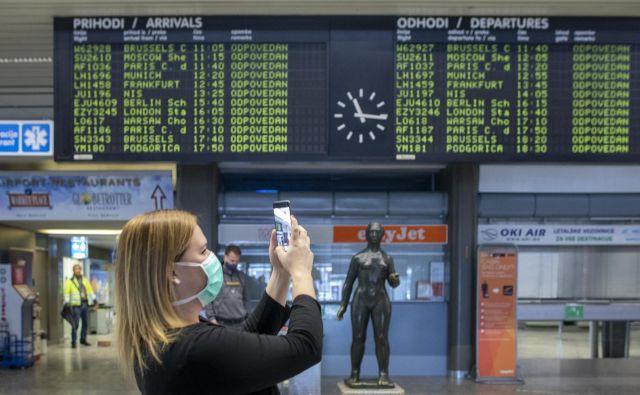 Za potnike na ljubljanskem letališču bodo veljali preventivni ukrepi. Foto Voranc Vogel