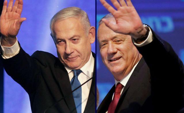 Velika nacionalistična koalicija Benjamina Netanjahuja in Benija Ganca. FOTO: AFP