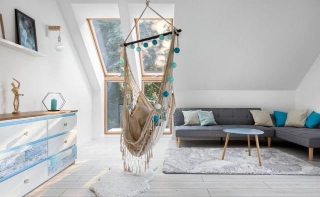 Nimate vrta niti balkona, hkrati pa si želite prijetnega pozibavanja v viseči mreži? Foto Shutterstock