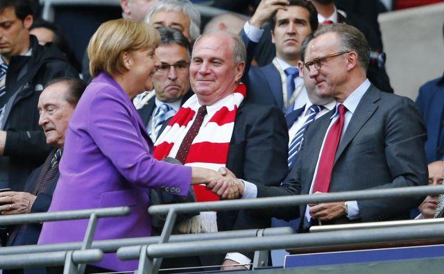 <strong>Karl-Heinz Rummenigge </strong>je ponosen na rojakinjo<strong> Angelo Merkel,</strong> ki je Nemčijo vrnila tudi na nogometni zemljevid. FOTO: Reuters