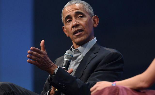 Predsednika Donalda Trumpa je napadel tudi njegov demokratski predhodnik Barack Obama, kar je nenavadno, če upoštevamo ameriški politični bonton. Foto AFP