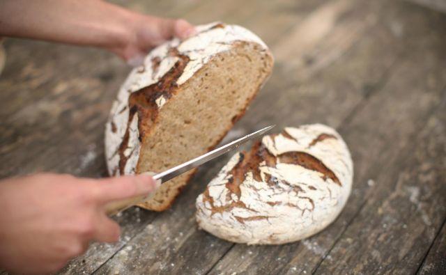 V 63 odstotkih vprašanih gospodinjstev so kruh pekli najmanj enkrat na teden, v tretjini pravijo, da bodo to nadaljevali tudi po koncu epidemije. FOTO: Jure Eržen