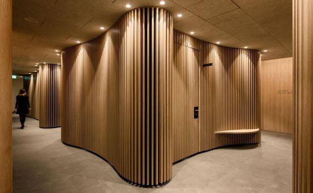 Po obodu organske oblike so umeščeni prostori za medicinske in velness masaže... Foto Miran Kambič