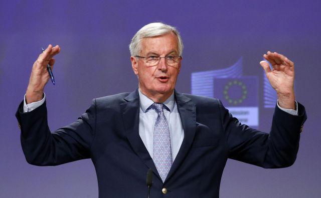 »Brexit je učna ura potrpežljivosti,« je dejal glavni evropski pogajalec Michel Barnier. FOTO: François Lenoir/AFP