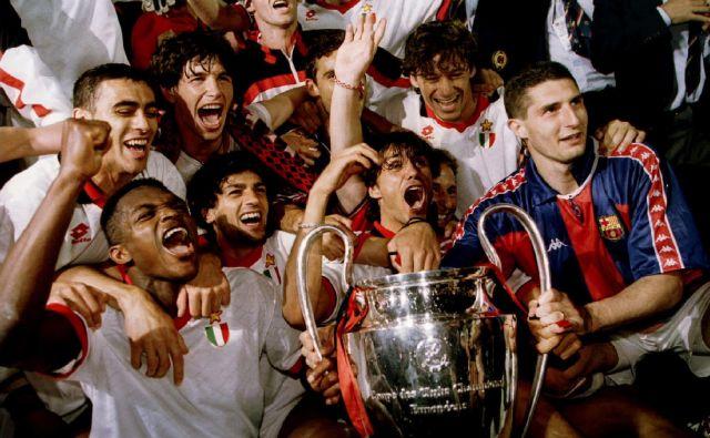 Milanovi igralci so se takole veselili petega naslova v ligi prvakov. FOTO: Reuters