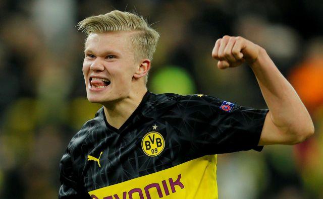 Erling Haaland se je odlično znašel v Dortmundu. FOTO: Reuters