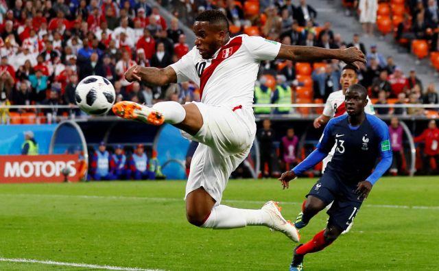 Jefferson Farfan v dresu reprezentance Peruja na svetovnem prvenstvu 2018. FOTO: Reuters
