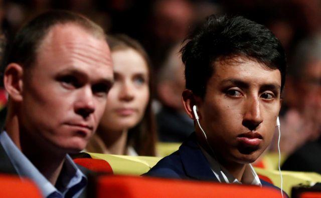 Chris Froome (levo) in Egan Bernal se na letošnjem Touru ne nameravata žrtvovati drug za drugega. FOTO: Reuters