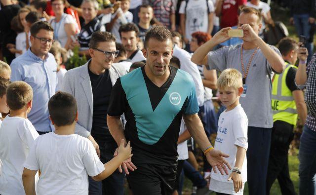 Alessandro Del Piero je bil pred dvema letoma tudi na dobrodelnem spektaklu v Biljah. FOTO: Leon Vidic/Delo