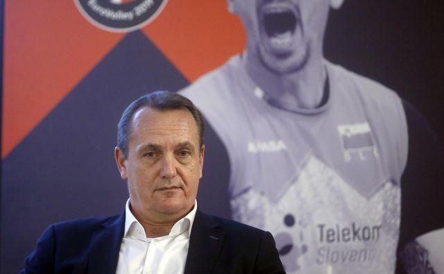 Predsednik OZS Metod Ropret je za večjo funkcionarsko vlogo Slovenije v evropski odbojki. FOTO: Blaž� Samec