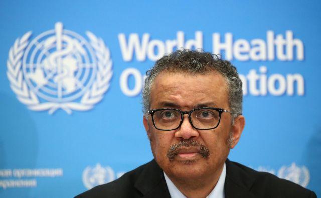 Generalni direktor WHO Tedros Adhanom Ghebreyesus je sporočil, da bo začel neodvisno preiskavo o odgovoru WHO in njenih članic na pandemijo koronavirusne bolezni. FOTO: Reuters