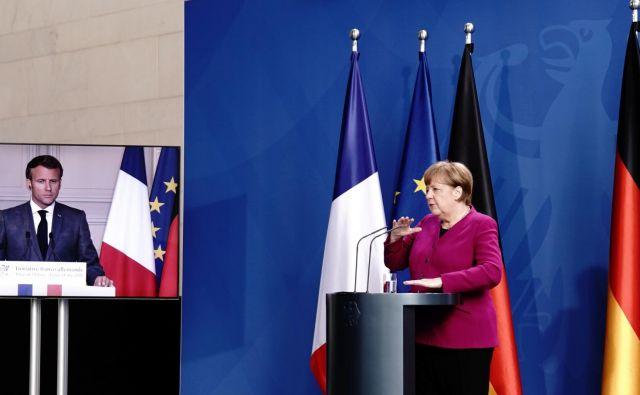 Angela Merkel in Emmanuel Macron sta napovedala 500 milijard evrov vreden sklad za najbolj prizadete države. FOTO: Reuters