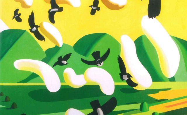 Franc Novinc: Vrane; akril na platnu. FOTO: Modrijan