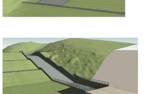 Takšen bo zadrževalnik Veliki potok, ki bo precej pripomogel k protipoplavni varnosti Grosuplja. Vir: Občina Grosuplje
