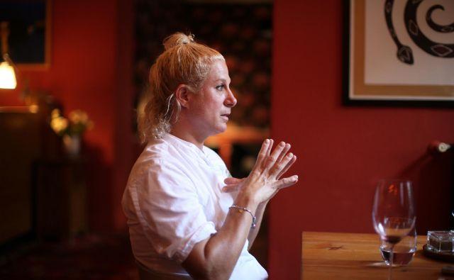 Ana Roš, svetovno znana kuharska mojstrica, šefica kuhinje v restavraciji Hiša Franko: Odpiranje meja s Hrvaško je turistični samomor. Foto: Jure Eržen/delo Eržen Jure