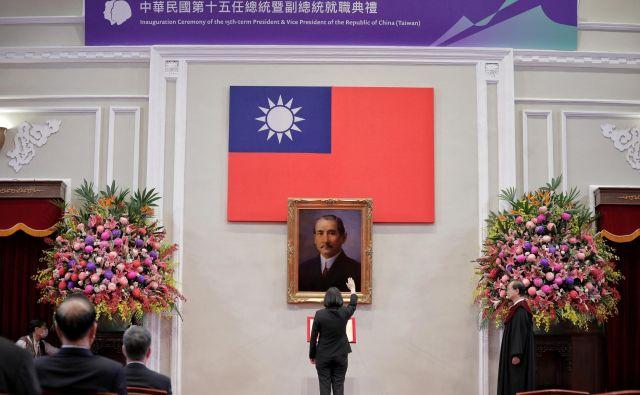 Slovesnost ob začetku drugega mandata tajvanske predsednice Tsai Ing-wen FOTO: Reuters