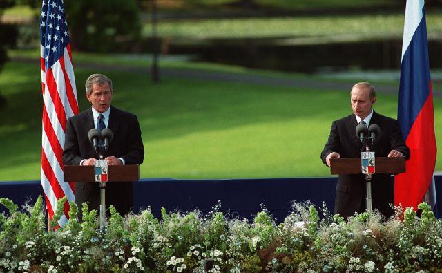 Brdo pri Kranju je leta 2001 gostilo prvo srečanje tedanjih predsednikov ZDA in Rusije, Georgea Busha in Vladimirja Putina. Foto Jure Eržen
