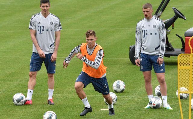 Bayernovi nogometaši se že pripravljajo na nove izzive. FOTO: AFP