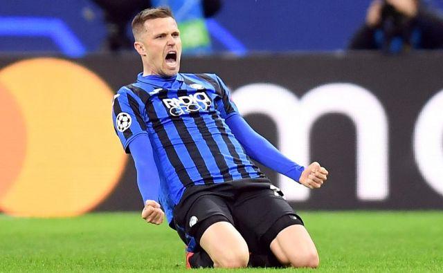 Josip Iličić je na zadnji tekmi lige prvakov za Atalanto v Valencii dosegel štiri gole. FOTO: Reuters