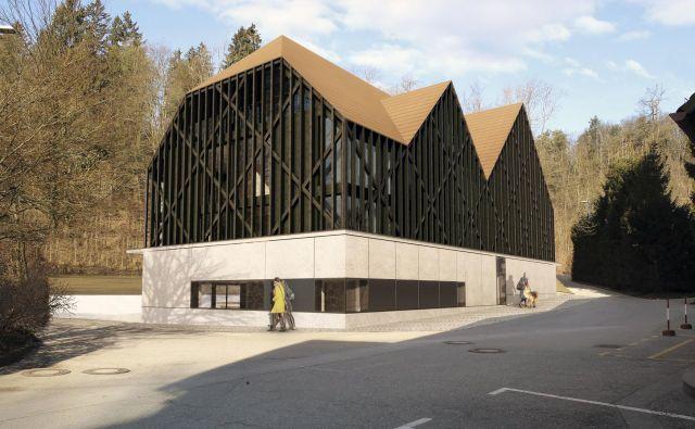Stavba butičnega hotela bo imela betonsko podnožje, nadstropje in mansarda bosta zastekljena ter obdana z gosto leseno opono, ki bo zastrirala poglede od zunaj, gostom v notranjosti pa odpirala poglede proti gozdu. Računalniška prikaza Arhitektura 2211